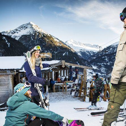 Gletscher Skifahren